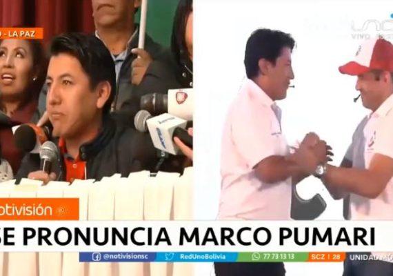 Marco Pumari anuncia su campaña rumbo a la elecciones